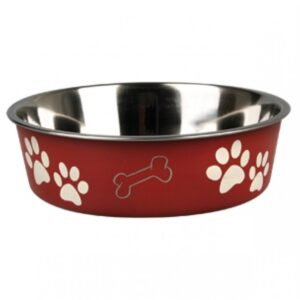 Hondenvoerbak-Inox-Bella-Rood