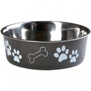 Hondenvoerbak-Inox-Bella-Zwart