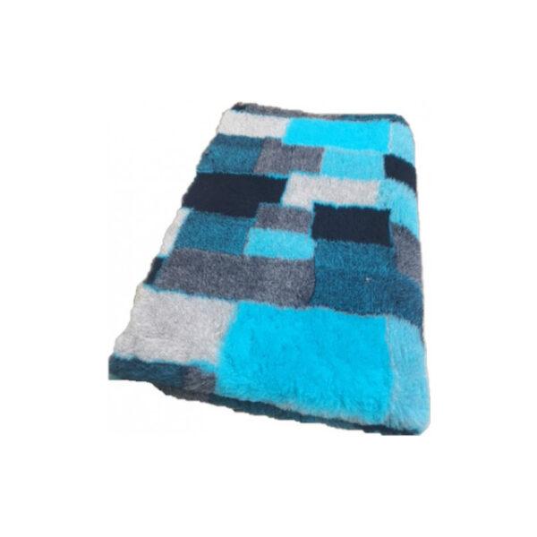 Vetbed-Patchwork-Turquoise-Zwart-Blauw-Grijs-latex-anti-slip