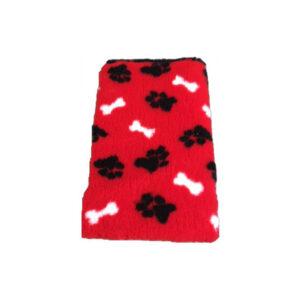 Vetbed-Rood-zwarte-pootjes-witte-botjes-latex-anti-slip