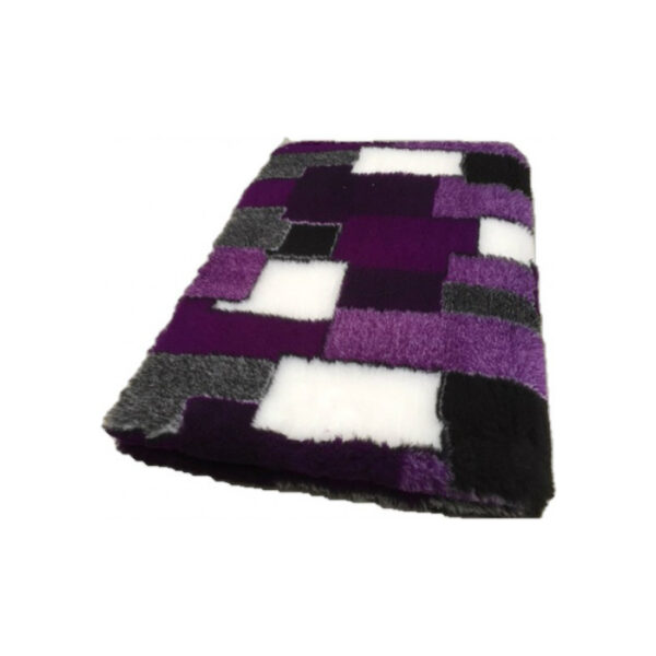 Vetbed Patchwork Paars