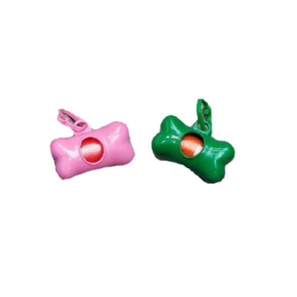 Poepzakjes roze + groen