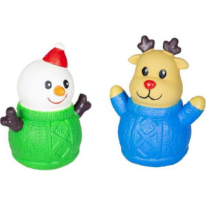 Latex Rendier en Sneeuwman met trui