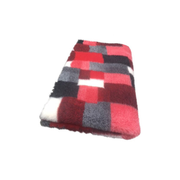Vetbed Patchwork Rood